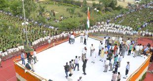 कोटा में 30 हजार कोचिंग स्टूडेंट्स ने दिए '52 सेकंड राष्ट्र के नाम'