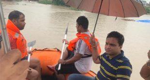 कोटा जिले में तूफानी वर्षा से लबालब हुये नदी व बांध