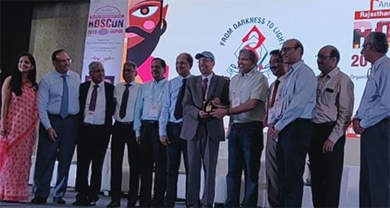 नेत्र सर्जन डॉ.सुरेश पाण्डेय रॉसकॉन वीडियो अवॉर्ड से सम्मानित