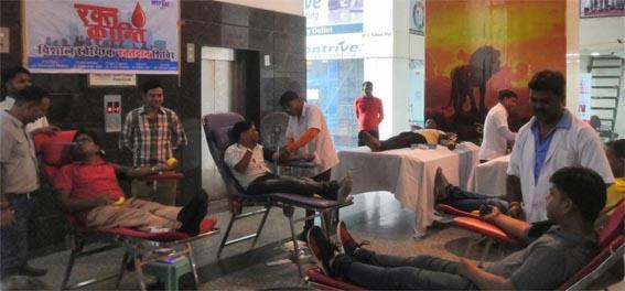 जेसीआई कोटा की रक्त क्रांति के तीसरे शिविर में 62 यूनिट रक्तदान