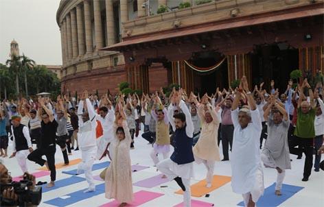 संसद भवन में फिट इंडिया अभियान का आगाज