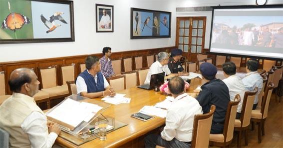 लोकसभा अध्यक्ष ने आपदा राहत के लिये उच्चस्तरीय बैठक ली